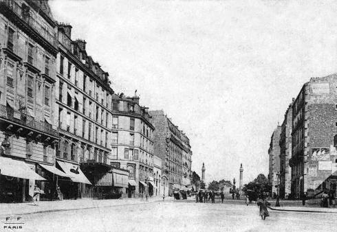 Parigi in bicicletta au vent mauvais - Paris rue du faubourg saint antoine ...